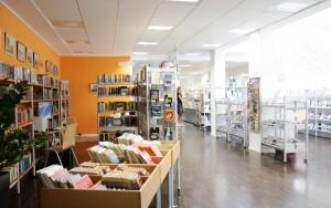 Innenraum der Stadtbücherei Kaiserswerth